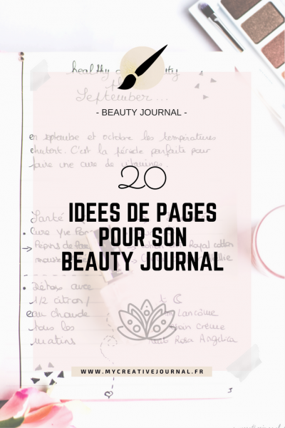 idees de pages pour bullet beauty journal