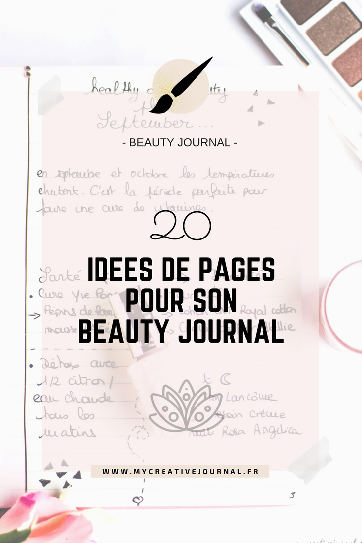 idees de pages pour bullet beauty journal