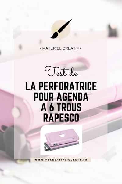 Perforatrice pour agenda à 6 trous Rapesco : Le test