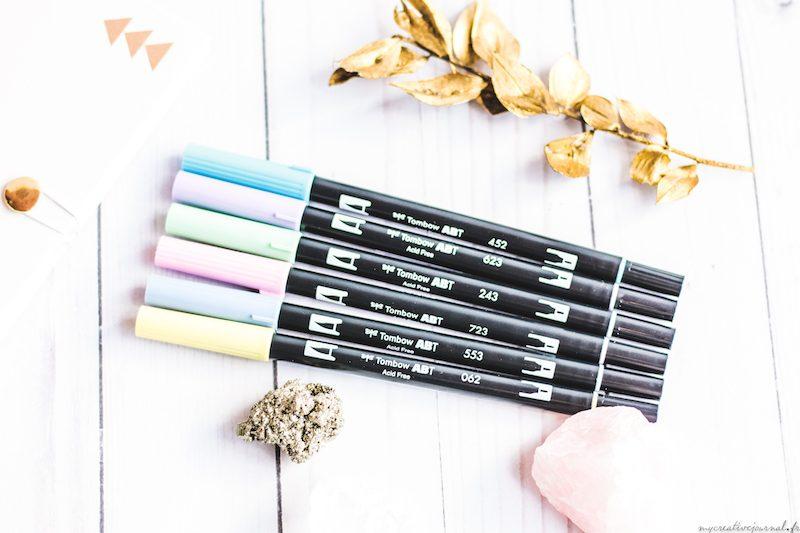 brush pen tombow pastel kit
