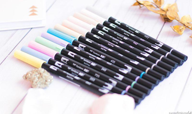brush pen tombow pastel nudes tones
