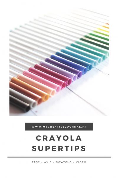 crayola supertips avis feutres pour bullet journal transperce pas