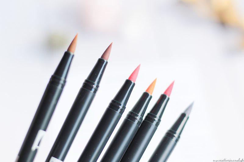 tombow brush pen feutres pinceaux blush nude tones