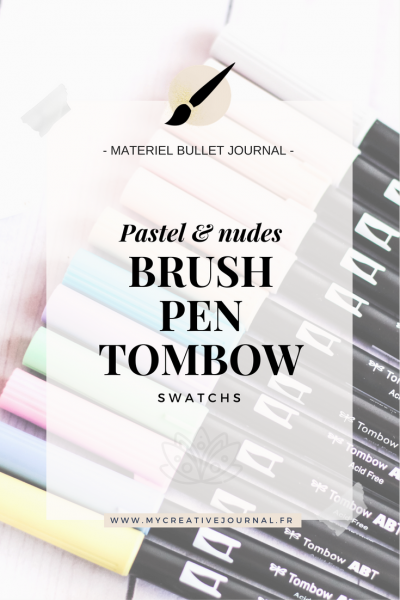Tombow Brush Pen : Nude & pastel colors