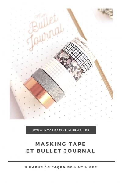Comment utiliser le masking tape dans son bullet journal ?