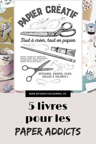 papier créatif 5 livres parfaits pour le scrap avec etiquettes cartes postales stickers