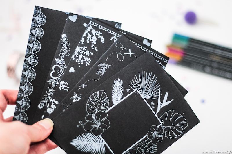 cartes noires coffret créatif stabilo