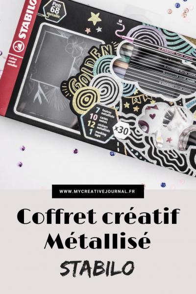 coffret créatif pen 68 metallic stabilo feutres