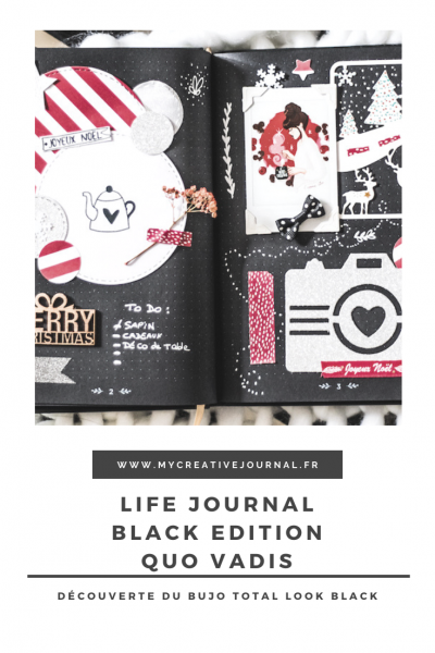life journal black edition quo vadis bullet journal pages noires