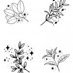 flowers design for mini thermal pocket printers