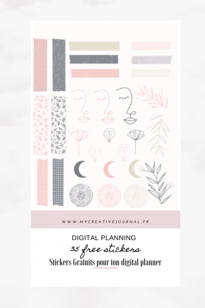 35 free stickers gratuits digital planner