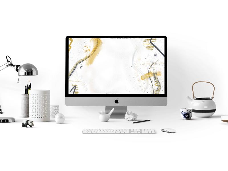 fond d'écran desktop wallpaper gold 2021
