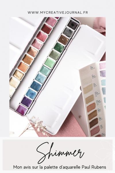 palette aquarelle irisé metallisé paul rubens shimmer
