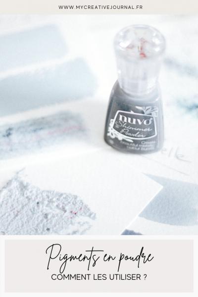 comment utiliser les pigments en poudre nuvo shimmer powder meteorite