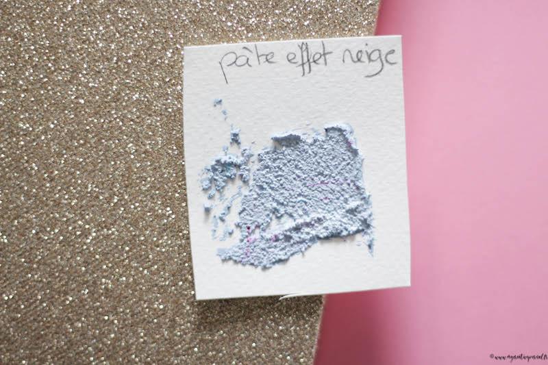 pigments en poudre avec pate a effet