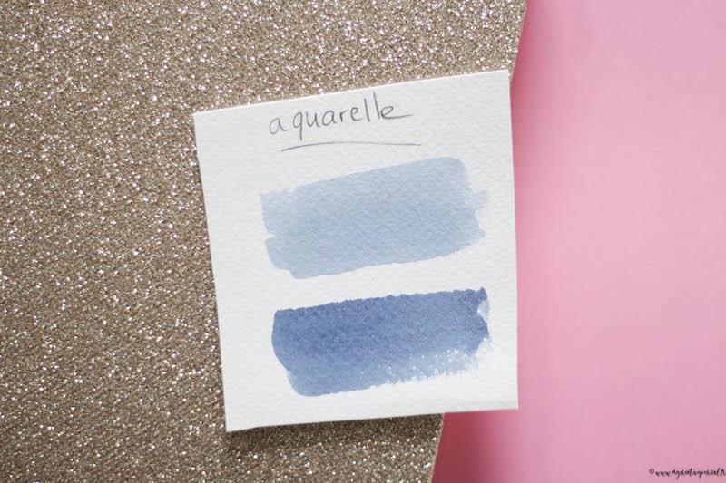 utiliser pigments en poudre aquarelle