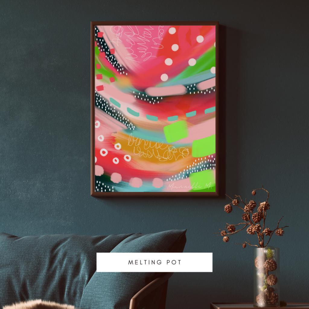 Digital abstract art Melting pot